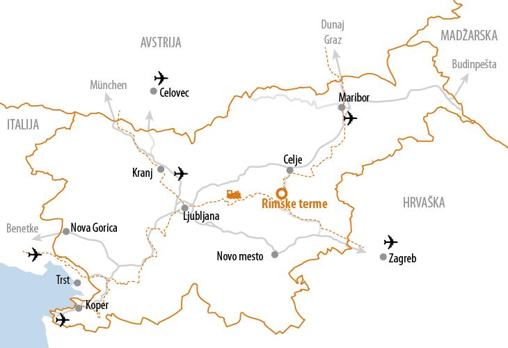 Mappa Rimske Terme